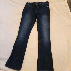💚 Express Jeans dark to medium wash size 1 Long